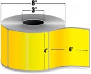 "Intermec Duratran II, Floodcoat Thermal Transfer Label, 4"" X 6"", 4 Rolls, #E07267-PMS115 - HON-E07267-PMS115"
