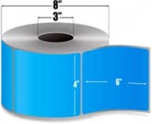 "Intermec Duratran II, Floodcoat Thermal Transfer Label, 4"" X 6"", 4 Rolls, #E07267-PMS2707 - HON-E07267-PMS2707"