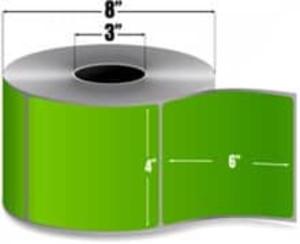 "Intermec Duratran II, Floodcoat Thermal Transfer Label, 4"" X 6"", 4 Rolls, #E07267-PMS365 - HON-E07267-PMS365"