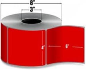 "Intermec Duratran II, Floodcoat Thermal Transfer Label, 4"" X 6"", 4 Rolls, #E07267-PMSWMRED - HON-E07267-PMSWMRED"