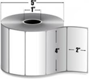 "Intermec Duratran II, Thermal Transfer Label, 4"" X 2"", 8 Rolls, #E15523 - HON-E15523"