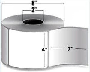 "Intermec Duratran II, Thermal Transfer Label, 4"" X 7"", 4 Rolls, #E07318 - HON-E07318"