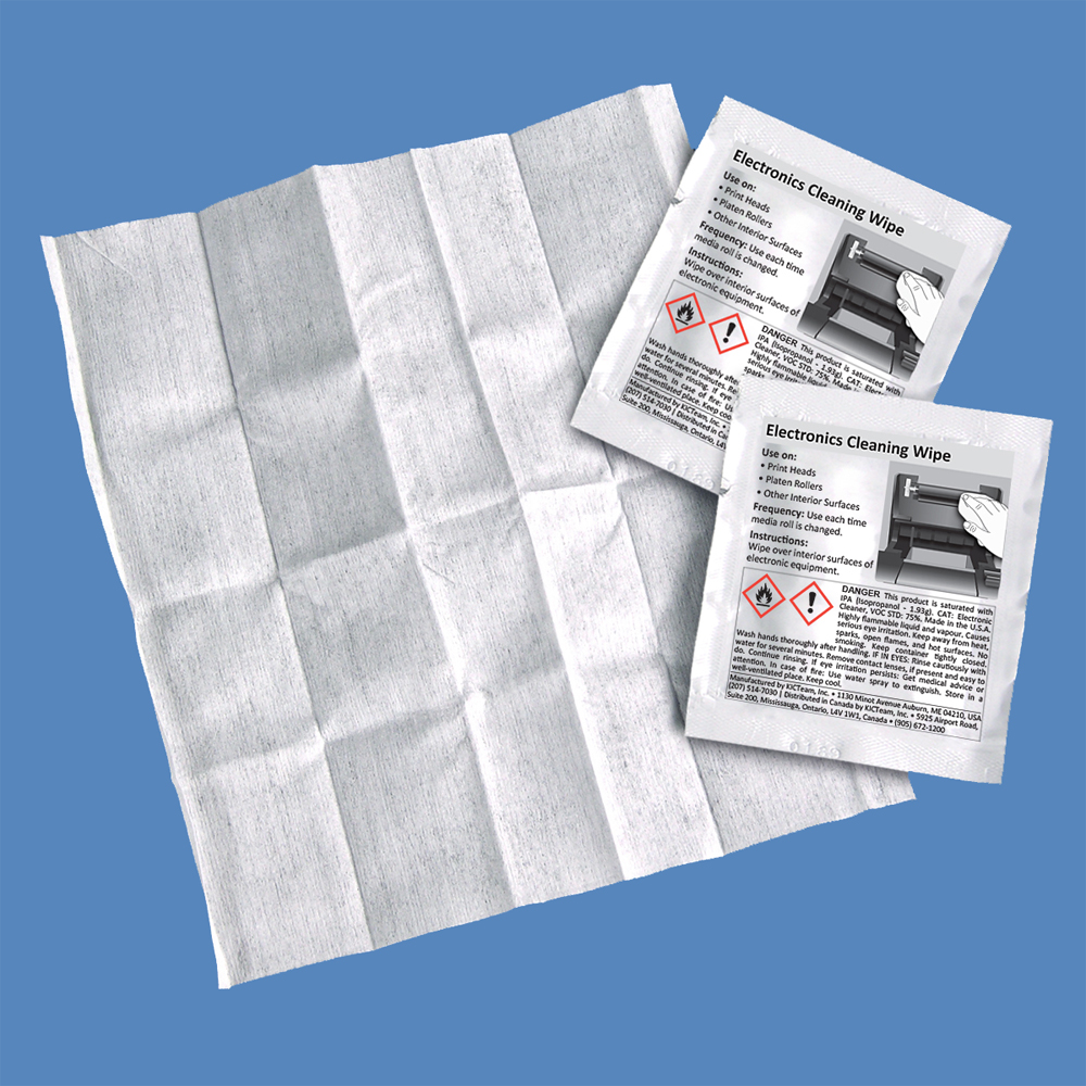 99.7% IPA Electronics Cleaning Wipes, Individually Packaged, K2-WIT100 (100 Wipes)