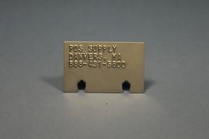 Embossed Metal Imprinter Plate, AP-1003-1