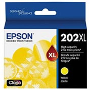 Epson 202 High-Yield Yellow Ink Cartridge, 470 pages - IJ-T202XL420S-C