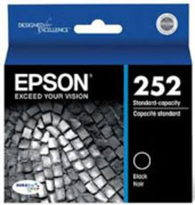 Epson 252 Series Black Cartridge, 350 Page Yield - IJ-T252120