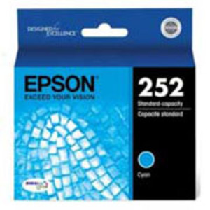 Epson 252 Series Cyan Ink Cartridge, 300 Page Yield - IJ-T252220