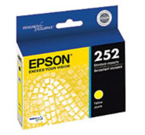 Epson 252 Series Yellow Ink Cartridge, 300 Page Yield - IJ-T252420