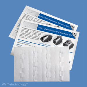 Epson Check Scanner Cleaning Cards with Waffletechnology KWEPS-CS1B15WS (15 Cards) - KWEPS-CS1B15WS