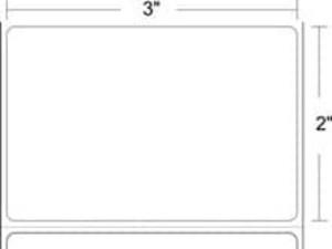 """Epson ColorWorks C3400/C3500 3"""" x 2"""" Matte Film Labels (8 Rolls) - L-IJ-S32400-2"""