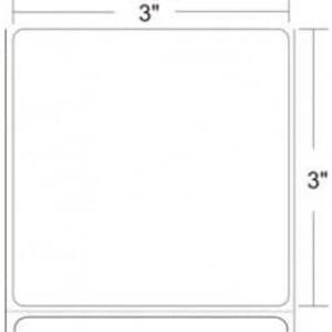 """Epson ColorWorks C3400/C3500 3"""" x 3"""" Matte Film Labels (8 Rolls) - L-IJ-S33300-2"""