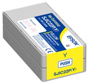 Yellow Inkjet Cartridge for Epson ColorWorks C3500, C33S020583 - IJ-EPS-C33S020583