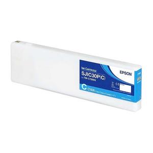 Cyan Inkjet Cartridge for for Epson ColorWorks C7500G, C33S020636 - IJ-EPS-C33S020636