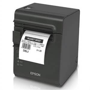 Epson TM-L90-662 Plus Thermal Label Printer for Linerless Media, Serial and USB, Epson Dark Gray