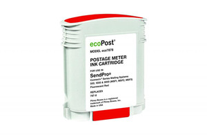 Fluorescent Red Postage Meter Ink Cartridge for Pitney Bowes 787-8 (Remanufactured) - PM-ECO7878