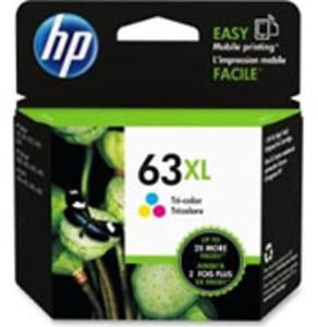 HP 63XL Tri-Color Ink Cartridge, 330 Page Yield - IJ-F6U63AN