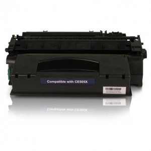 HP 05X Compatible Black Laserjet Toner Cartridge, High Yield, 6,500 Page Yield - TON-CE505X-CPT