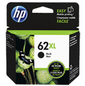 HP 62XL, Envy 5640 Black High Yield Ink Cartridge, Yield 600 Pages - IJ-C2P05AN