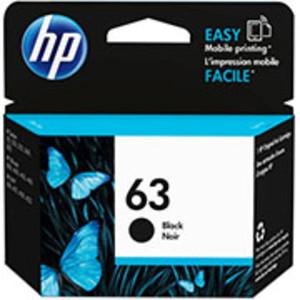 HP 63 Black Ink Cartridge, 165 Page Yield - IJ-F6U62AN