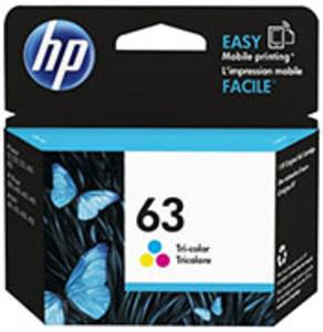 HP 63 Tri-Color Ink Cartridge, 165 Page Yield - IJ-F6U61AN