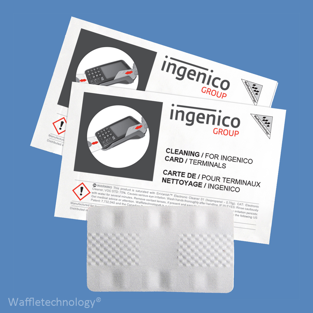 Ingenico Cleaning Cards Waffle Technology