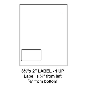 """3.5"""" x 2"""" Integrated Left-Oriented Label Form Sheets, 1 Up (1,500 Sheets) - LASI-35-2-1-Left"""