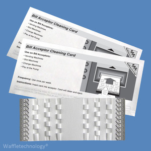 Lucky Stripe Waffletechnology Bill Acceptor Cleaning Cards with Miracle Magic KW3-BMB15M (15 Cards)
