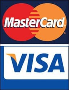 MasterCard / Visa Credit Card Decals (4 decals)