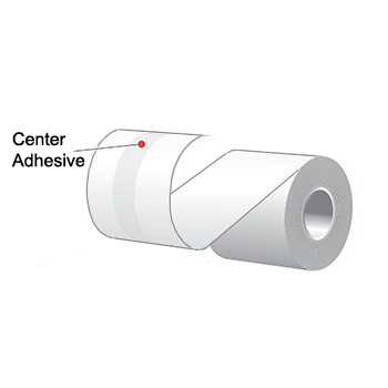 """2.25"""" x 160' MAXStick 2Go, Center Adhesive Liner-Free Thermal Labels (24 Rolls)"""