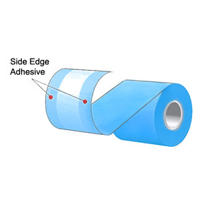 "3.125"" x 160' MAXStick Colors Blue Side Edge Adhesive Liner-Free Thermal Labels (24 Rolls) - MS3181602GOSEB-24"