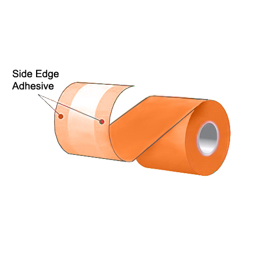 """3.125"""" x 160' MAXStick Colors Orange Side Edge Adhesive Liner-Free Thermal Labels (24 Rolls)"""