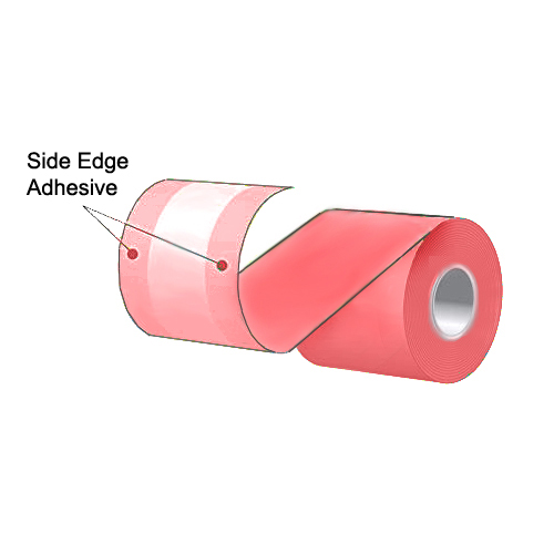 """3.125"""" x 160' MAXStick Colors Pink Side Edge Adhesive Liner-Free Thermal Labels (24 Rolls)"""