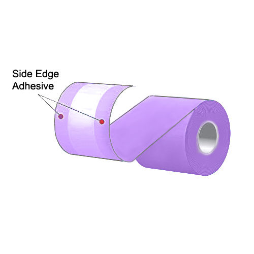 """3.125"""" x 160' MAXStick Colors Violet Side Edge Adhesive Liner-Free Thermal Labels (24 Rolls)"""