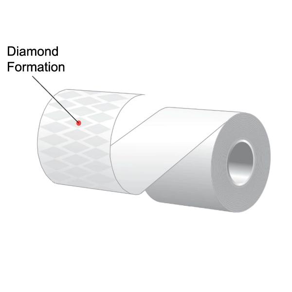 "3.125"" x 170' MAXStick Plus, Diamond Pattern Adhesive Liner-Free Thermal Labels (32 Rolls)"