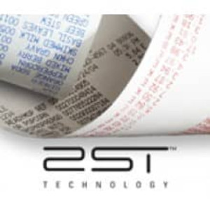 "NCR (2ST) Two Sided Thermal Receipt Paper Rolls - 3 1/8"" x 273', Black/Black (50 Rolls) - T318-273-2ST-BB"