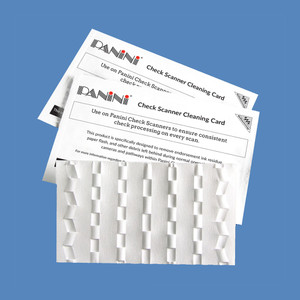 Panini Check Scanner Cleaning Cards with Waffletechnology KWPNI-CS2B15WS (15 Cards) - KWPNI-CS2B15WS