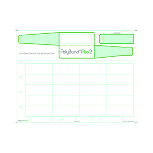 Adult PolyBand Plus 2 Medical ID Wristband Laser Sheets with 20 Chart Labels (1000 Sheets) - L-WB-PBP2-250-975