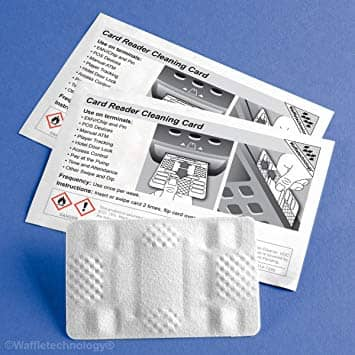 POS Supply Card Reader Cleaning Card featuring Waffletechnology, CR80 (40 cards/box)
