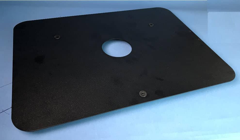 "POS Terminal Swivel, 14"" x 19"" black platform with feet"