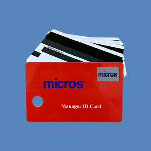 RED MICROS Magnetic ID Cards, 25/set - AC-200156-RED
