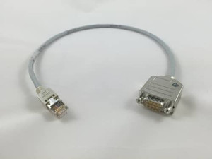 RJ45 to DE-9P Cable Assembly RS232 Serial Interface with Handshaking - MIC-300319-103