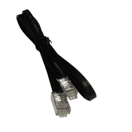 Unshielded cable assembly: 100 feet, 6-pin to 6-pin for Micros IDN printer