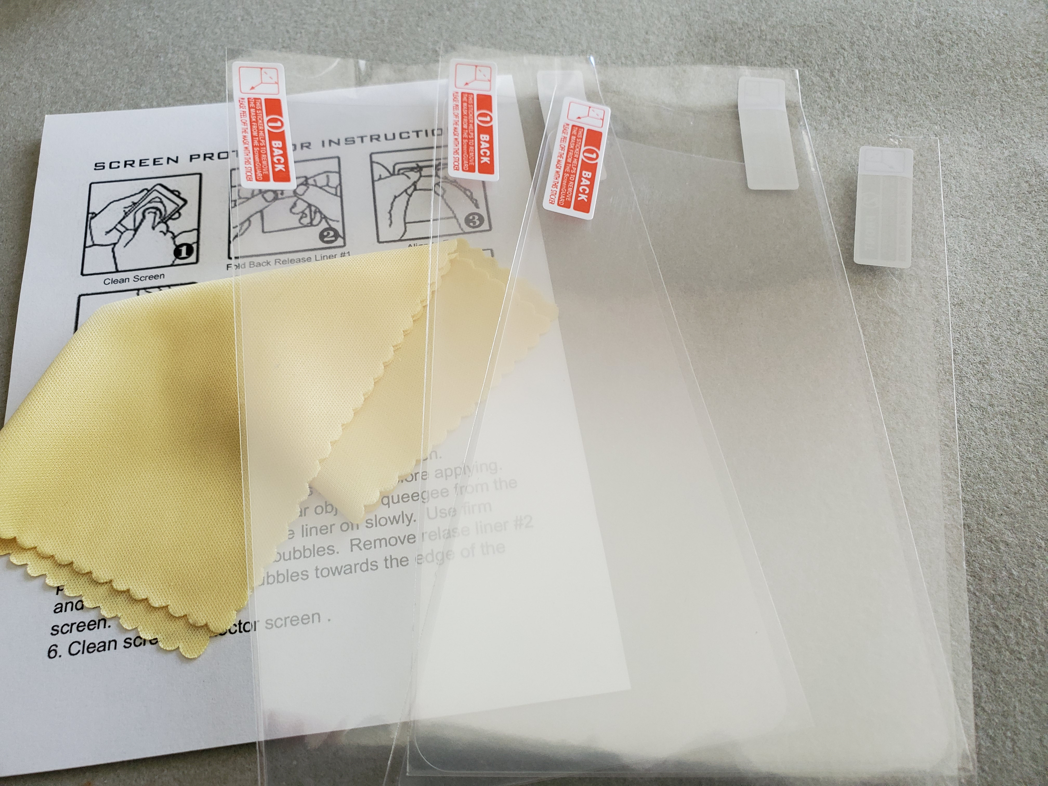 Square Terminal Protective Spill / Anti-Glare Screen Cover (Pack of 3)