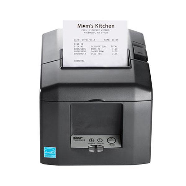Star Micronics TSP654II Thermal Printer, Auto-Cutter, Gray (Ethernet/CloudPRNT/USB)