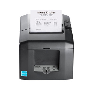 Star Micronics TSP654II SK Sticky Paper Thermal Printer, Auto-Cutter, Gray (Ethernet/CloudPRNT/USB) - STAR-37967780