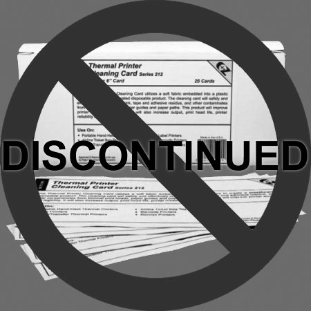 "Thermal Printer Cleaning Card, 2.25"" x 6"", 25 cards/box"