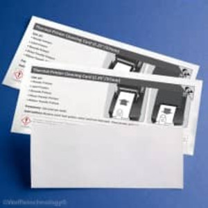 """Thermal Printer Cleaning Card, 2.25"""" x 6"""", 25 cards/box - K2-T2256B25"""