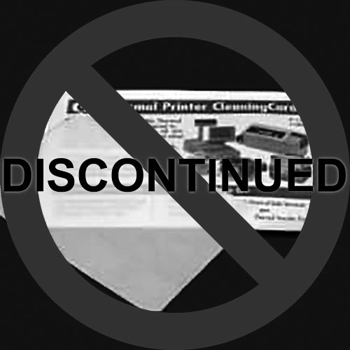 """3 1/8"""" Thermal Printer Cleaning Cards K2-T3126B25 (25 Cards)"""