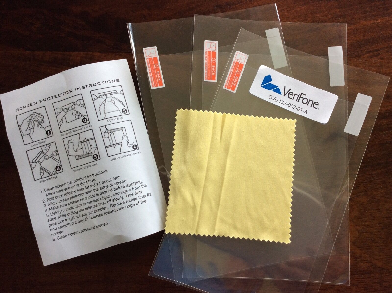 Verifone MX915 Protective Spill / Anti-Glare Screen Cover (Pack of 3)