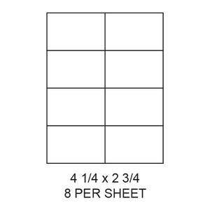 "4.25"" x 2.75"" White Matte Laser/Inkjet Label Sheets (8,000 Labels) - LAS-425-275-8"
